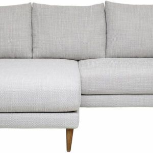 Miles, sofa med chaiselong, Polyester by Bloomingville (H: 66 cm. B: 90,16 cm. L: 216 cm., Natur)