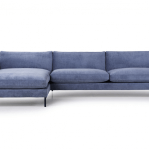 SOFA.dk - Barcelona | 2-personers Sofa Med Chaiselong (polyester) - Antracitgrå